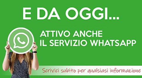 servizio whatsapp attivo assistenza, supporto