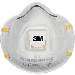 1 X 3M™ Mascherina 8812, FFP 1, con valvola - 3 m Respiratore - Marchio CE 0086 (EN 149:2001 + A1:2009 FFP1 NR D) - Iltuobenessereonline.it
