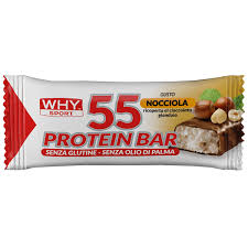 Why Sport 55 PROTEIN BAR BARRETTA NOCCIOLA/GIANDUIA 55 G - Spacefarma.it