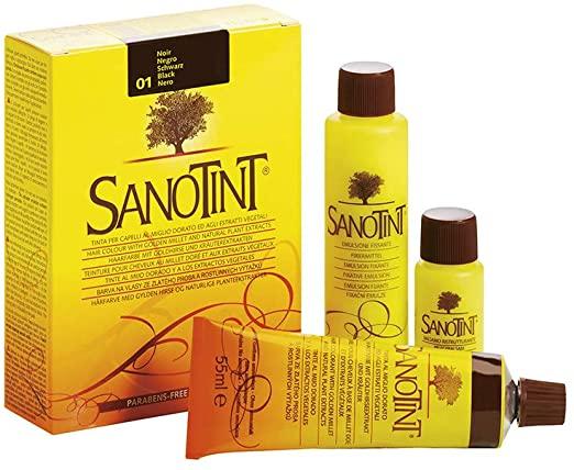 6 Confezioni  Sanotint 01 Nero  125 ml - keintegratore.com