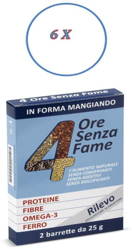 Rilevo- 6 Confezioni Singole di Barrette Spezzafame- 4 Ore senza Fame (12x25 gr) - keintegratore.com