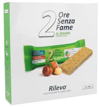 Rilevo- 6 Confezioni Singole di Barrette Spezzafame- 2 Ore Senza Fame Barretta Naturale con Semi e Cereali (6x25 g) - keintegratore.com