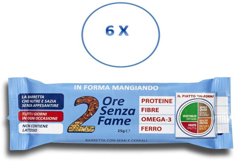 Rilevo- 6 Confezioni Singole di Barrette Spezzafame-2 ore Senza Fame Barretta Naturale con Semi di Sesamo e Nocciole (6x25 gr) - keintegratore.com