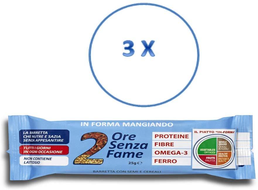Rilevo- 3 Confezioni Singole di Barrette Spezzafame- 2 Ore Senza Fame 25 gr (3x25 gr) - keintegratore.com