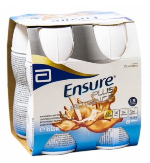 ENSURE PLUS ADVANCE CIOCCOLATO 4 BOTTIGLIE DA 220 ML - Farmafirst.it