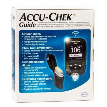 KIT GLUCOMETRO ACCU-CHEK GUIDE MG/DL + PUNGIDITO FASTCLIX - Farmafamily.it