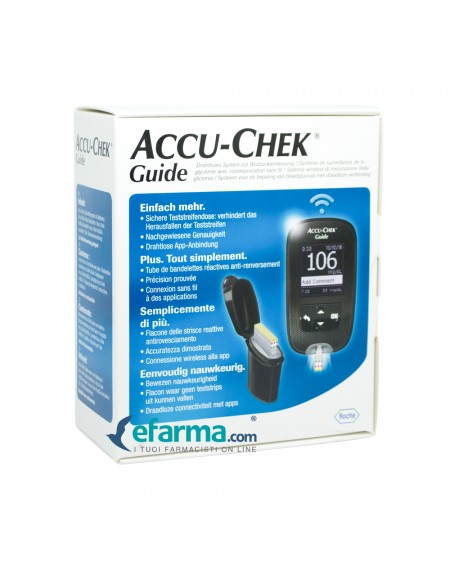 KIT GLUCOMETRO ACCU-CHEK GUIDE MG/DL + PUNGIDITO FASTCLIX - Farmawing