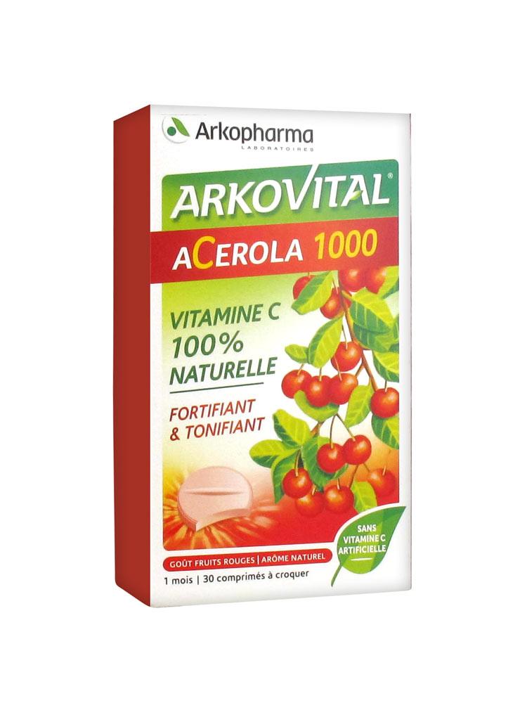 ARKOVITAL ACEROLA 30CPR MASTICABILI - Farmacia33