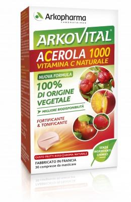 Arkocapsule Acerola 1000 Integratore Difese Immunitarie 30 Compresse Masticabili - latuafarmaciaonline.it