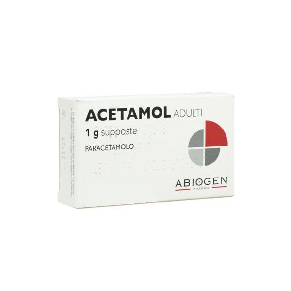 Acetamol Adulti 10 Supposte 1 g - Farmalilla