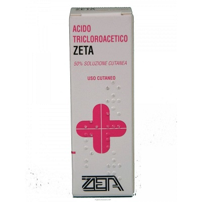 Acido Tricloroacetico  ZETA 50% Soluzione Cutanea Flacone 10ml - Farmafamily.it