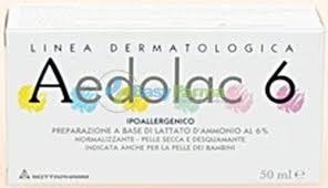 AEDOLAC 6 TUBO 50 ML