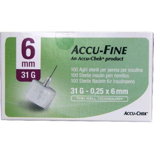 Ago Accu-fine G31 6mm 100 Pezzi - Arcafarma.it