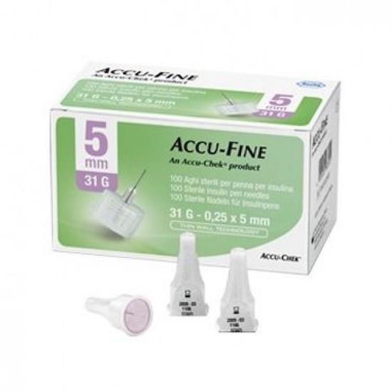 Ago per Penna da Insulina Accu-Fine Pen Needle Accu-Chek Gauge 31 x 5mm 100 Pezzi - Arcafarma.it