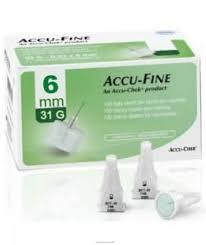 AGO PER PENNA DA INSULINA ACCU-FINE PEN NEEDLE ACCU-CHEK GAUGE 31 X 6MM 100 PEZZI - Farmaciapacini.it