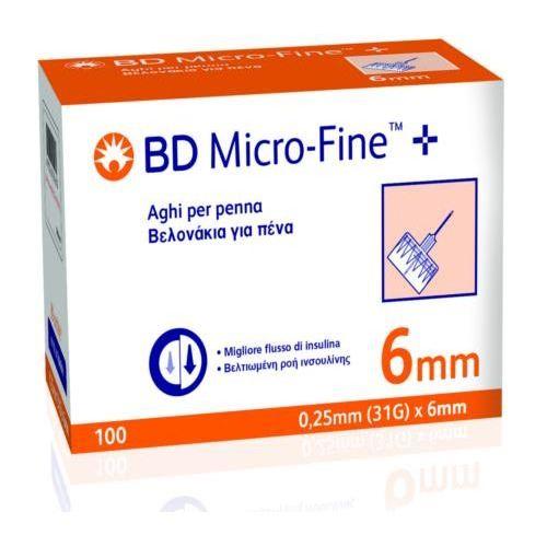 AGO PER PENNA DA INSULINA BD MICROFINE GAUGE 31 6MM 100 PEZZI - Farmaconvenienza.it
