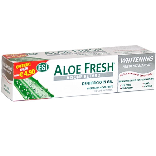Aloe fresh Whitening Dentifricio 100ml - Iltuobenessereonline.it