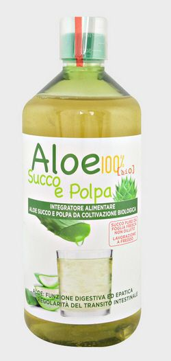 ALOE SUCCO E POLPA 100% 1 LITRO - latuafarmaciaonline.it