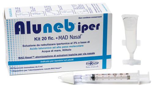 ALUNEB KIT SOLUZIONE IPERTONICA 3% 20 FLACONCINI + MAD NASAL ATOMIZZATORE - Farmacia Centrale Dr. Monteleone Adriano