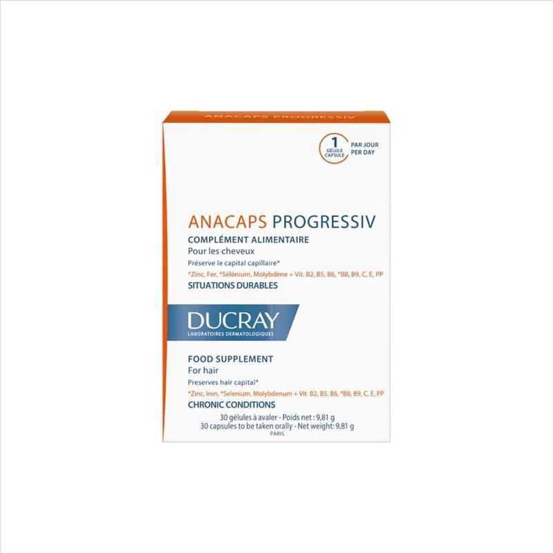 Ducray Anacaps Progressiv Integratore Anticaduta Fortificante 30 Capsule.  - latuafarmaciaonline.it