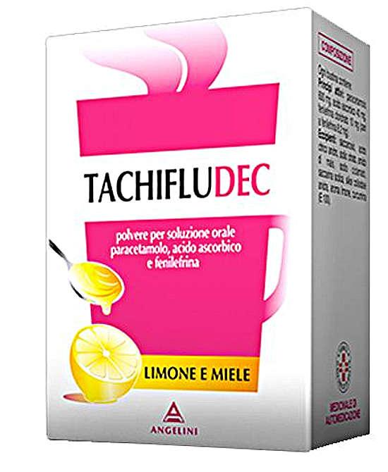 Angelini Tachifludec Per Raffreddore E Influenza Gusto Limone-Miele 10 Bustine - Farmaci.me