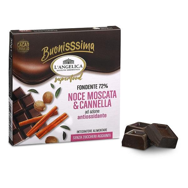 L'Angelica Buonissima Noce Moscata & Cannella Cioccolato Antiossidante 30 gr - Farmafamily.it