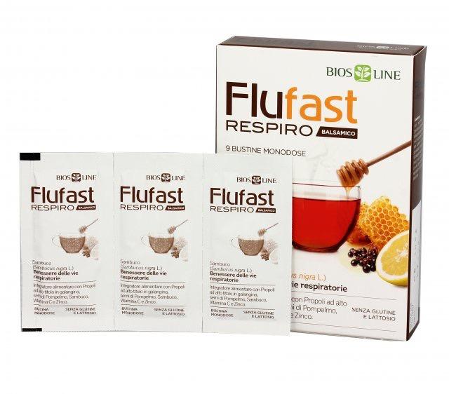 Flufast Respiro Arancia 9 Buste Apix Propoli Bios Line - Farmastar.it