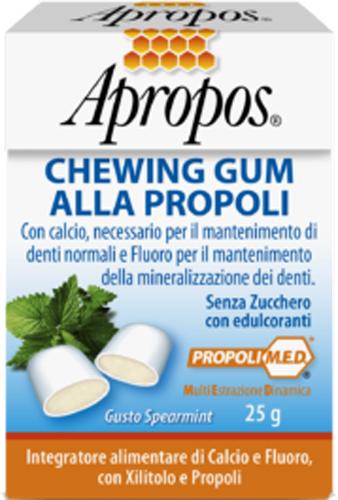 APROPOS CHEWINGUM PROPOLI 25 G - Farmacia Centrale Dr. Monteleone Adriano