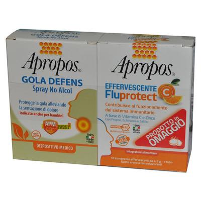 APROPOS SPRAY NO ALCOL + C FLUPROTECT EFFERVESCENTE - Farmastar.it