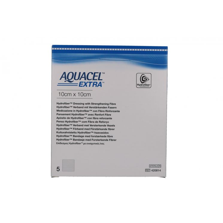 AQUACEL EXTRA MEDICAZIONE CON CARBOSSIMETILCELLULOSA SODICA 10X10 CM 5 PEZZI - Farmafamily.it