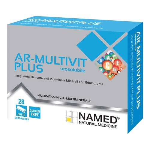 Named AR-Multivit Plus Integratore Alimentare Vitamine 28 Bustine Orosolubili - Farmastar.it