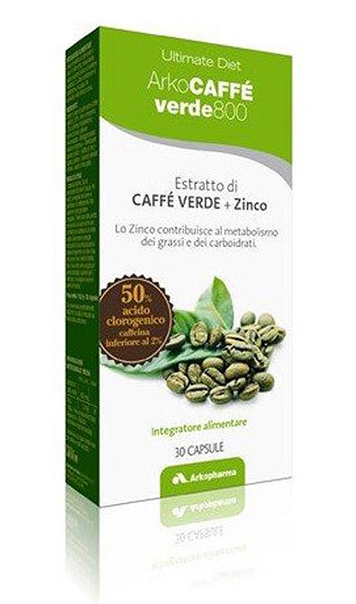 Arkopharma ArkoCaffè Verde 800 Integratore Alimentare Metabolismo 30 Capsule - latuafarmaciaonline.it