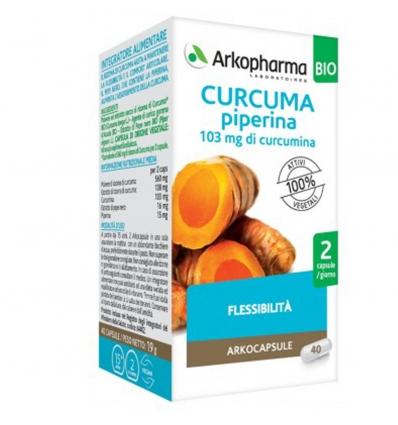 ARKOCPS CURCUMA + PIPERINA BIO 40 CAPSULE - FARMAEMPORIO