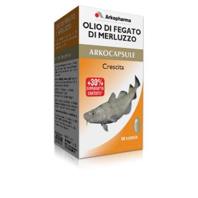 Arkocapsule Olio di Fegato di Merluzzo Integratore Crescita 60 Perle - latuafarmaciaonline.it