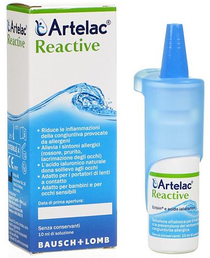 ARTELAC REACTIVE SOLUZIONE OFTALMICA MULTIDOSE FLACONE 10 ML - Farmacia Centrale Dr. Monteleone Adriano