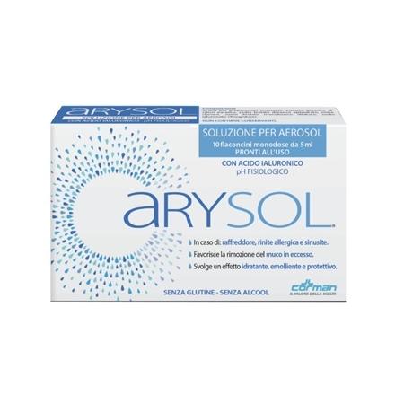 ARYSOL SOLUZIONE ADULTI PER AEROSOL CON ACIDO IALURONICO PH FISIOLOGICO 10 FLACONCINI MONODOSE DA 5 ML - Speedyfarma.it