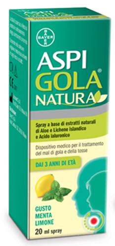 ASPI GOLA NATURA SPRAY MENTA LIMONE 20 ML - Farmacia Centrale Dr. Monteleone Adriano