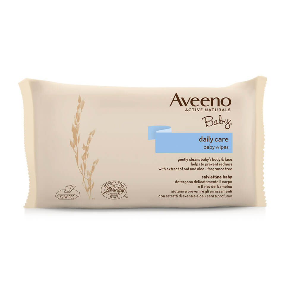 Aveeno Baby Wipes Salviettine 72 Pezzi - Arcafarma.it