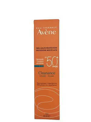 Avene Cleanance Crema Solare SPF 50+ Pelle Grassa 50 ml - Farmastar.it