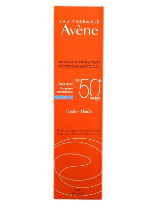 AVENE SOLARI FLUIDO SPF 50+ TOCCO SECCO VISO E COLLO PELLE SENSIBILE 50 ML - Farmastar.it