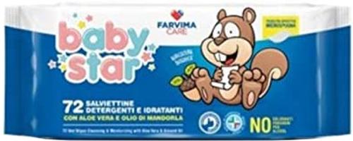 BABYSTAR SALVIETTE BEBE' POPUP 72 PEZZI - Farmacia Centrale Dr. Monteleone Adriano