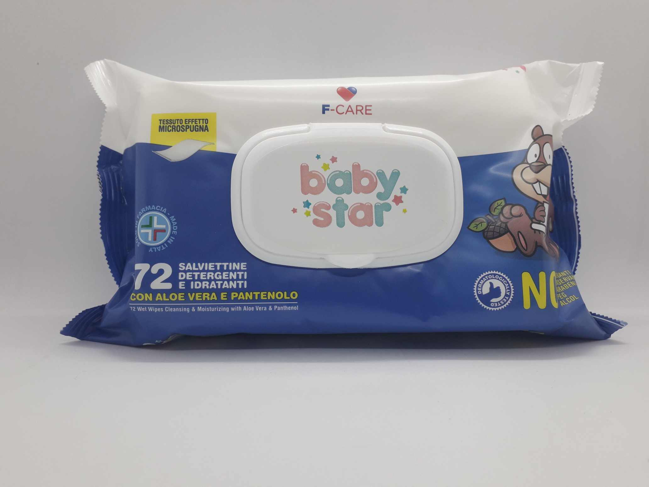 BABYSTAR SALVIETTE BEBE' POPUP 72 PEZZI - Farmaciaempatica.it