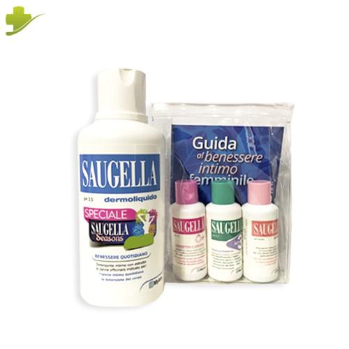 SAUGELLA DERMOLIQUIDO INTIMO 500 ML + SAUGELLA ACTI 3 50 ML + SAUGELLA POLIGYN 50 ML + SAUGELLA GIRL 50 ML - Farmastar.it