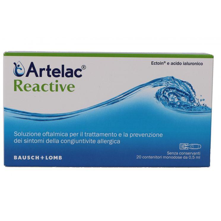 ARTELAC REACTIVE SOLUZIONE OFTALMICA MONODOSE 20 UNITA' DA 0,5 ML - Speedyfarma.it