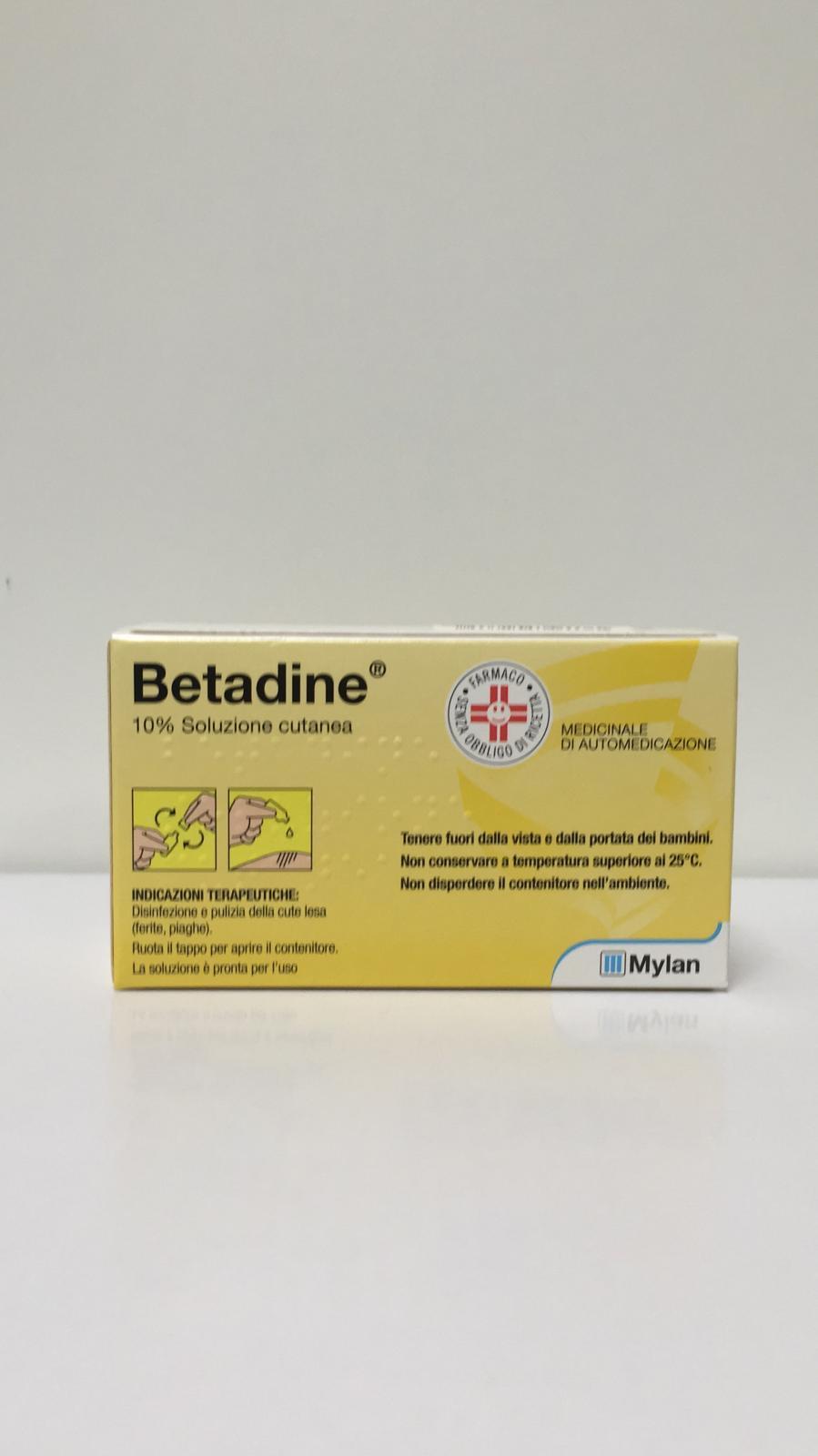 Betadine Soluzione Cutanea 10% 10 Flaconcini - Arcafarma.it