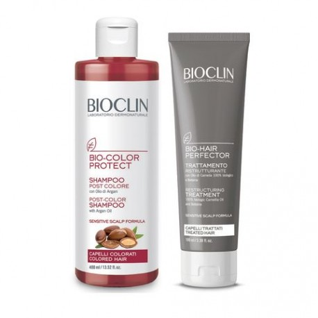 BIOCLIN BIO-COLOR PROTECT SHAMPOO + TRATTAMENTO RISTRUTTURANTE 400 ml + 100 ml - Farmapage.it