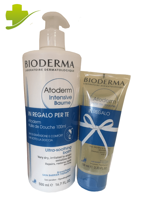Bioderma Atoderm Intensive Baume 500 ml Omaggio Atoderm Huile de Douche 100 ml - Farmastar.it
