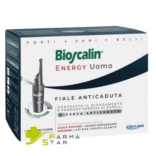 Bioscalin Energy Uomo Fiale Anticaduta 10 fiale monouso - Farmastar.it