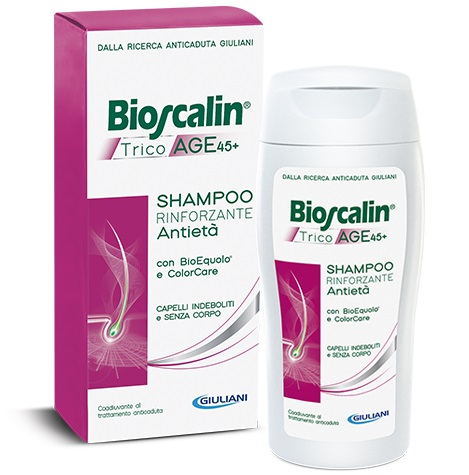 Bioscalin Linea TricoAge 45+ BioEquolo Shampoo Rinforzante Anti-Età 200 ml Off - Farmafamily.it