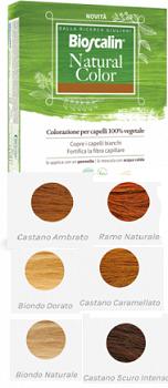 BIOSCALIN NATURAL COLOR CASTANO CARAMELLO 70 G - farmaciafalquigolfoparadiso.it